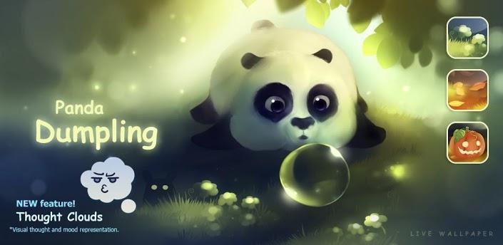 熊猫吹泡泡动态壁纸