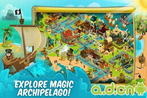 海盜探險:海灣鎮(含數據包) Pirate Explorer: The Bay Town v1.0.31-Android模拟经营類遊戲下載