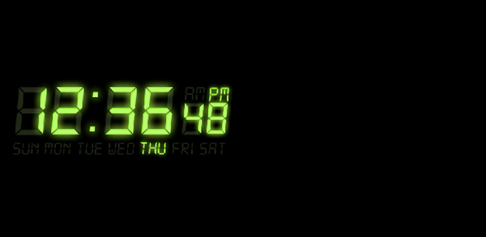 黑色背景电子时钟