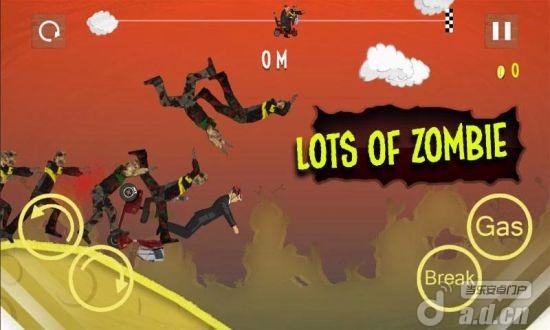 殭屍山脊賽車精簡版Zombie Hill Racing v1.0-Android体育运动類遊戲下載